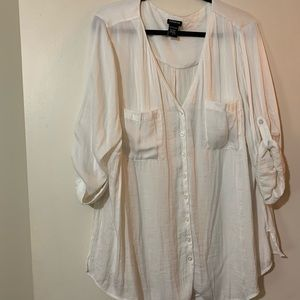 Cream Torrid Blouse